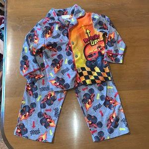 Nickelodeon Blaze Monster Truck Flannel Pajamas 4T